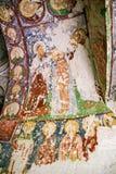 Freskomålning i den ortodoxa kyrkan El Nazar, Cappadocia, Turkiet för grotta Royaltyfri Bild