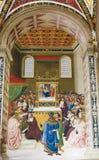 Freskomålning i det Piccolomini arkivet, Siena Fotografering för Bildbyråer