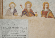 Freskomålning i kyrkan Fotografering för Bildbyråer