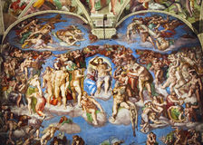 Freskomålning i Rome arkivfoto