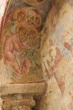 Freskomålning i Sten Nicholas Church Arkivbilder