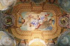 Freskomålning i Stift Melk, Österrike - vetenskap Arkivbild