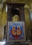 Freskomålning Mtskheta Svetitskhoveli för helig Treenighet royaltyfri fotografi