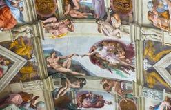 Freskomålning på taket i Vaticanenmuseerna Royaltyfri Fotografi