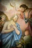 Freskomålning Santa Maria Cosmedin Fotografering för Bildbyråer