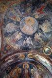 Freskomålningar på kupolen arkivfoton