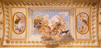 Freskomålningar Palazzo Pitti - Florence royaltyfri foto
