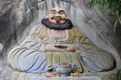 Freskomålningen av kines Dongmingsi arkivbild