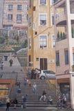 Freskomålningen av Le Mur des Canuts Royaltyfria Bilder