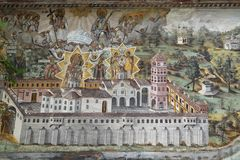 Freskos und Malereien in Bachkovo-Kloster Stockfotografie
