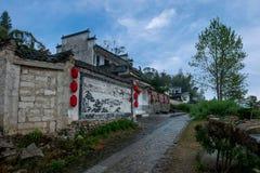 Freskos von Hongcun-Dorf, Yixian-Grafschaft, Anhui-Provinz Stockfotos