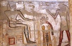 Freskos von Medinat Habu Lizenzfreie Stockbilder