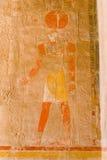 Freskos von Medinat Habu Stockfoto