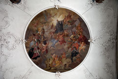 Fresku obraz w sanktuarium St Agatha w Schmerlenbach Obraz Royalty Free