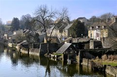 Fresnay on Sarthe in France Stock Photo