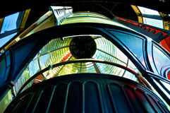 Fresnel Lamp Inside Cape Meares, Oregon Lighthouse Royalty Free Stock Photo