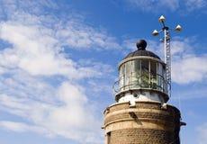 fresnel lampy latarnia morska obraz stock