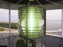 Fresnel Lens atop West Point Light Stock Photos