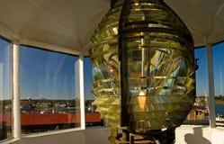 Fresnel-Leuchtturm-Objektiv Stockbilder