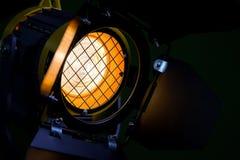 Fresnel lins, ladugårddörrar, skyddande metallingrepp Strålkastare med riktningsljus Halogenlampor fotografering för bildbyråer