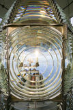 Fresnel Magnifying Lens Close Up Lighthouse Glass Rotating Stock Photo