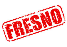 FRESNO red stamp text Stock Photography