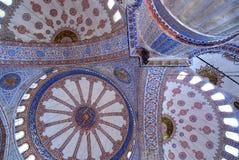 Fresque à l'intérieur de mosquée bleue à Istanbul photographie stock