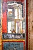 Fresque antique dans une maison à Pompeii image libre de droits