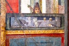 Fresque antique dans une maison ? Pompeii photographie stock libre de droits