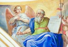 Fresque dépeignant Matthew l'évangéliste Image libre de droits