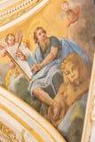 Fresque dépeignant St Mark l'évangéliste Images stock