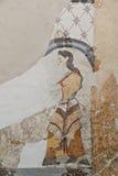 Fresque d'Akrotiri antique chez Santorini photo stock