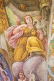 Fresque d'un ange et d'un pélican Photos stock