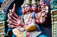 Fresque d'un temple hindou Images libres de droits