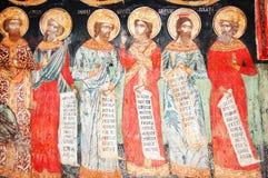 Fresque dans le monastère bulgare image libre de droits