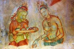 Fresque dans Sigiriya photographie stock