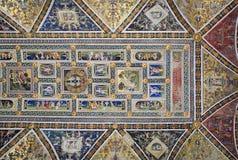 Fresque de cathédrale de Sienne Images stock
