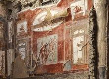 Fresque de Herculanum Image stock