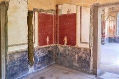 Fresque de Perseus avec la t?te de la m?duse dans un Domus de Pompeii photos libres de droits