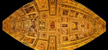 Fresque de plafond dans des musées de vatican Photographie stock libre de droits
