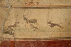 Fresque de Pompeii photographie stock