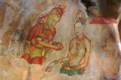 Fresque de Sigiriya Photo stock