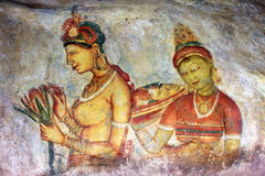 Fresque de Sigiriya illustration stock