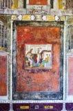 Fresque de Vénus et de Mars dans une maison de Pompeii antique photo libre de droits