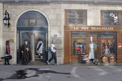 Fresque des lyonnais Royalty Free Stock Images