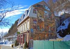 Fresque Du Petit Champlain, Quebec miasto, Kanada Obraz Royalty Free