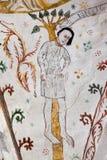 Fresque du suicide de Judas Iscariot, accrochant dans un arbre, Image libre de droits