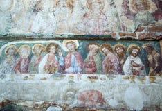 Fresque médiéval en Pologne Image libre de droits