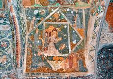 Fresque mural au monastère photo stock