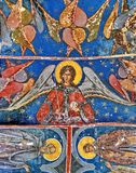 Fresque mural au monastère d'humeur photo stock
